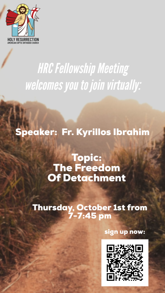 October Fellowship meeting flyer